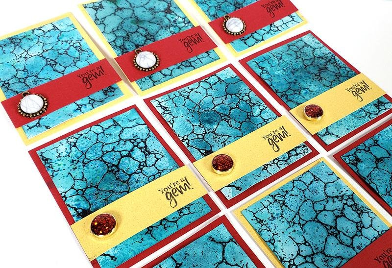 Turquoise ATCs - Make art to swap with friends.