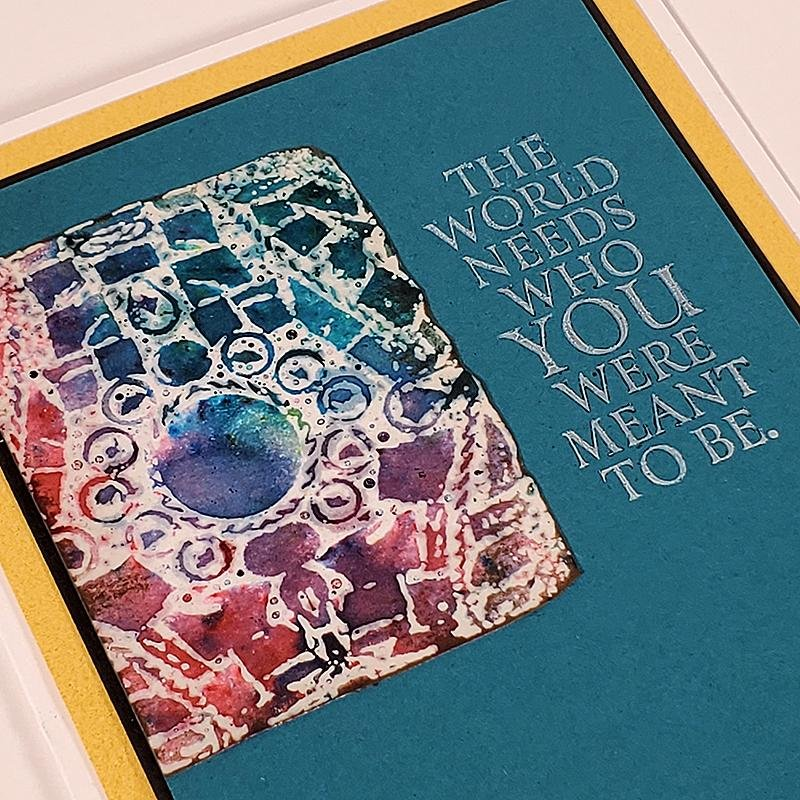 Turquoise Stamped Cards