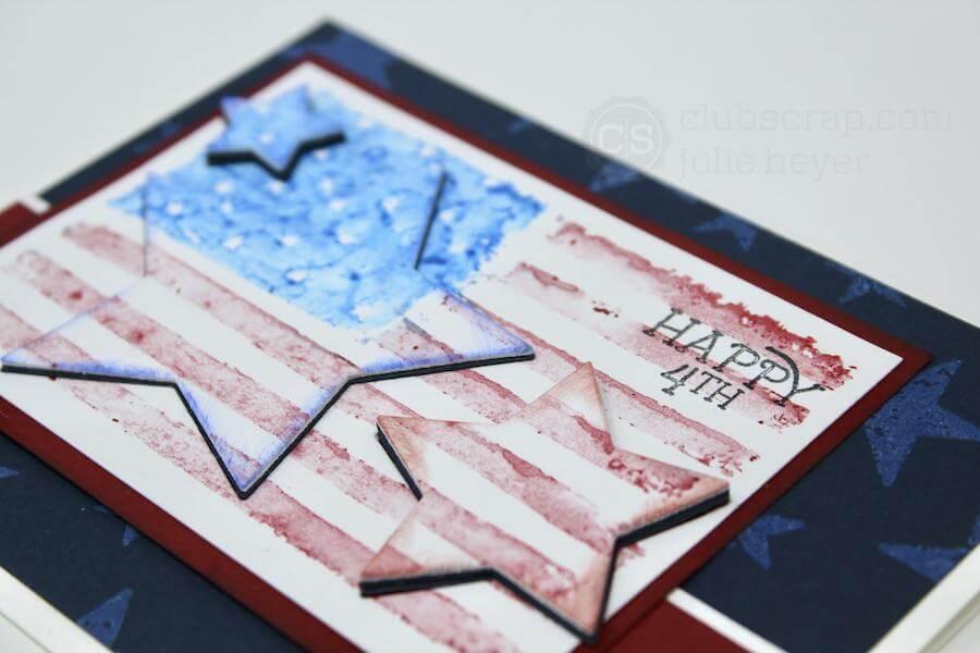 Die Cut Stars - a Vintage Americana Flag Card