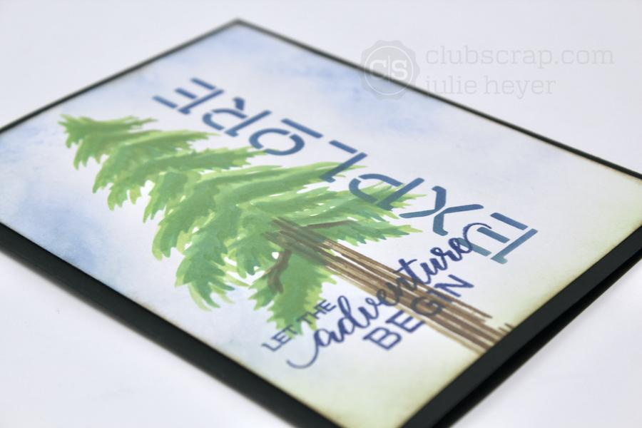 Explore Stencil - Pacific Northwest Single Layer Cards