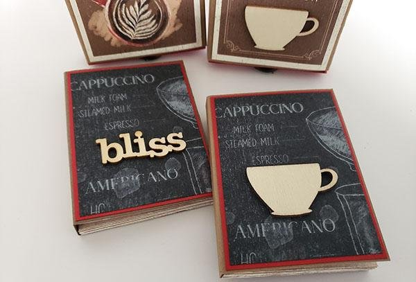 Maze Book in a Matchbox - A gift for the coffee lover.
