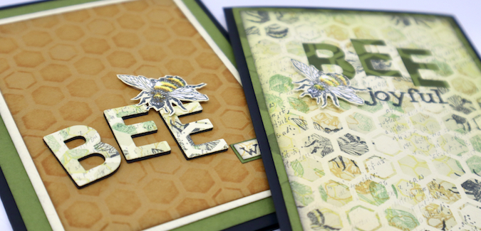 Die Cut Words - These cards are the bee's knees!