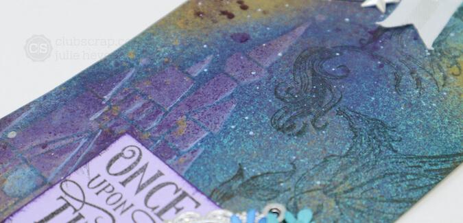 Fairytale Castle Stencil and tinted texture paste technique