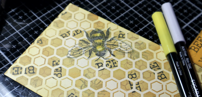 Floating Bee Card - This technique could not 'bee' any easier!