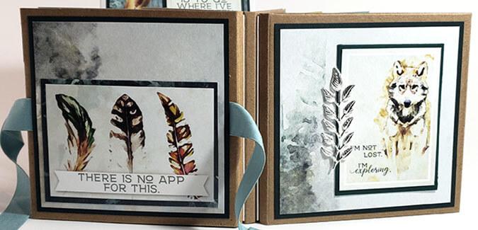 Triple Folio - Make a pair of Pacific Northwest mini books.