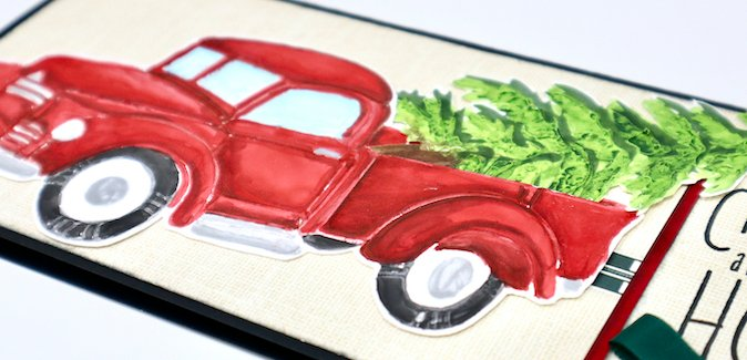 Painted Texture Paste featuring the Farmstand Stencil