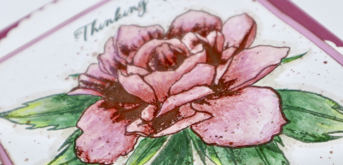 Peony Blossom - Stamping, Masking, and Coloring, oh my!