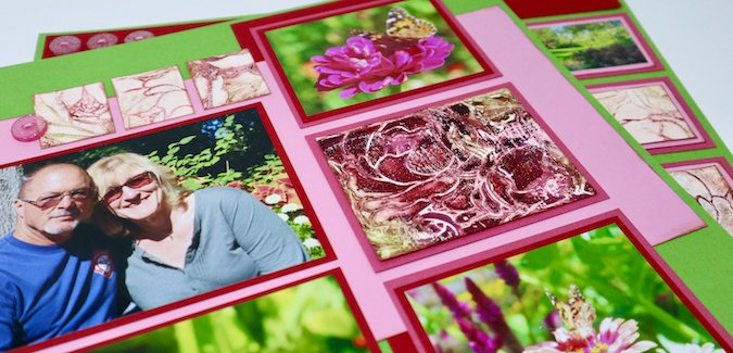 Peony Stencil Gel Prints - Perfect for pages!