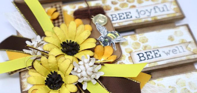 Let It Bee Wall Hanging with Pizza Box Planks!