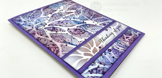 Stamping on Stencils - Technique Spotlight with Julie!