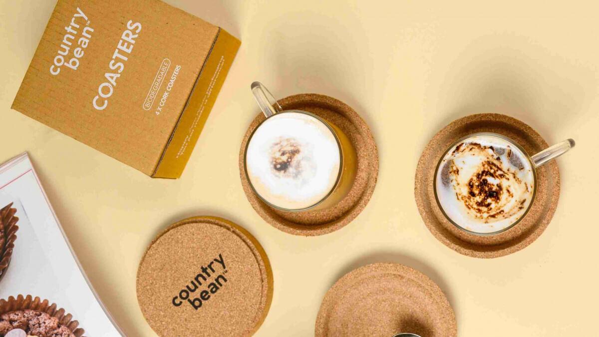 New product alert- cork coasters
