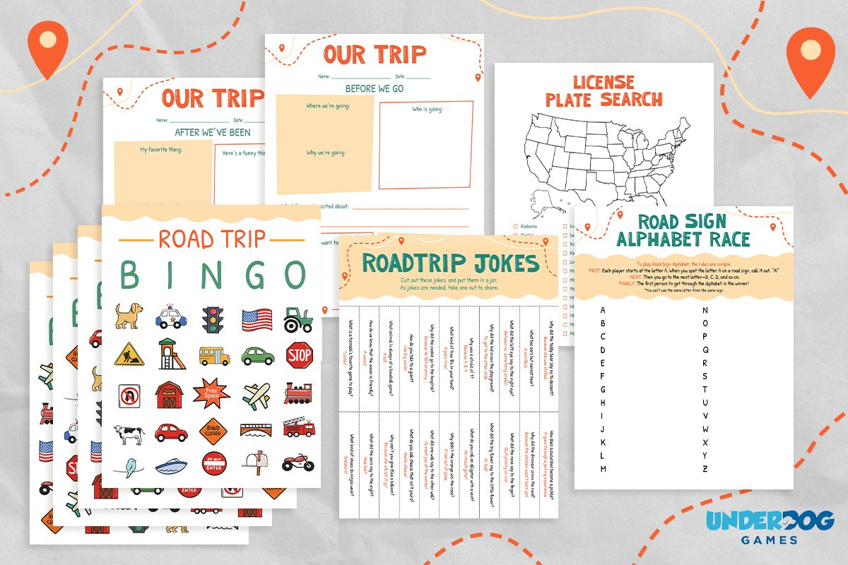 Printable Road Trip Games to Keep Kids Entertained