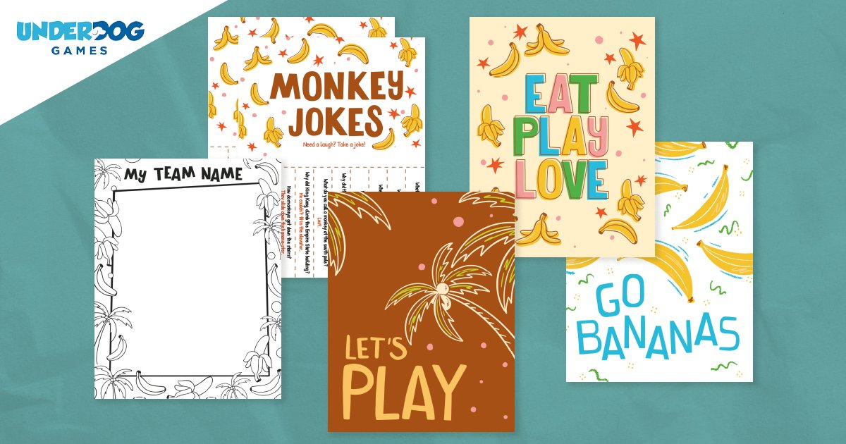 Free Monkey Jokes, Posters, and Coloring Page