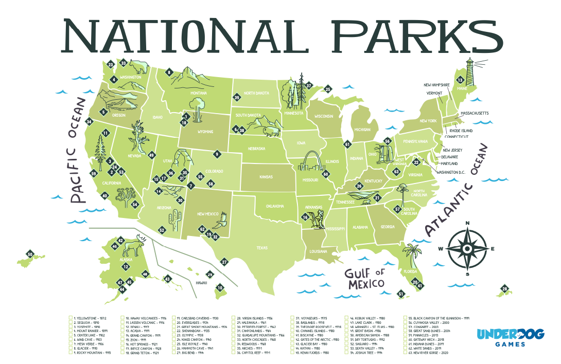 National Parks Map Poster Available for Free!