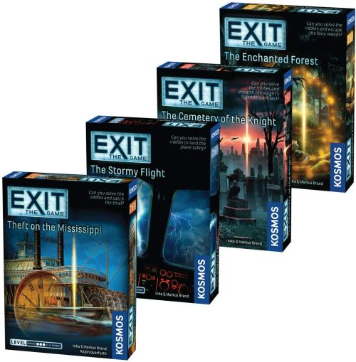 Best Solo Board Games: Various versions of EXiT The Game