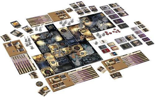 Best Solo Board Games: Massive Darkness cards, miniatures, and other equipment
