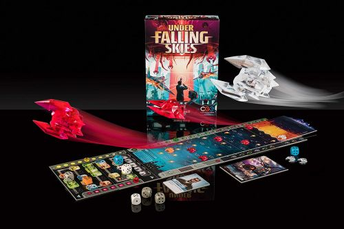 Under Falling Skies game board and pieces