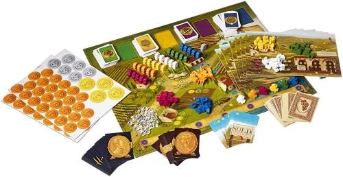 Viticulture game board, cards, and pieces
