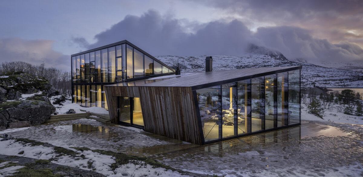 Un chalet scandinave isolé du monde