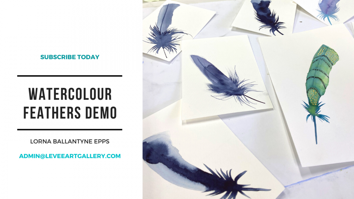 Free Watercolour Feathers Demo