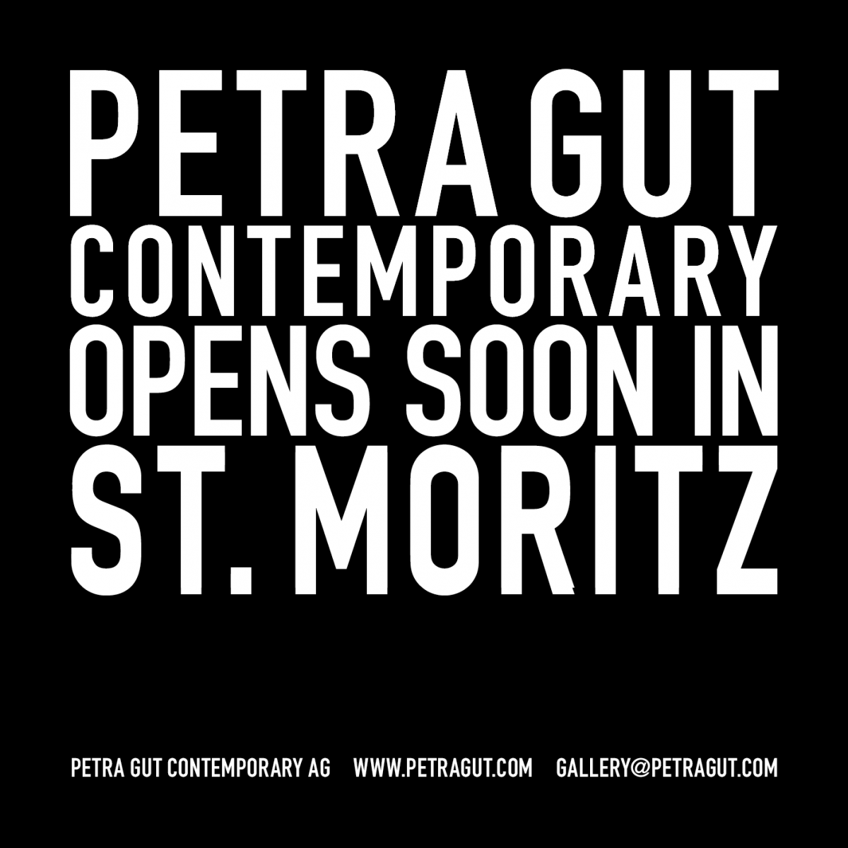 Petra Gut Contemporary opens soon in St. Moritz