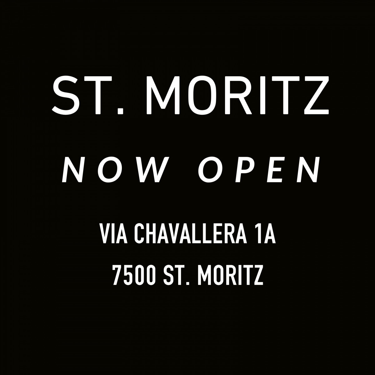 St. Moritz: our new gallery space is open