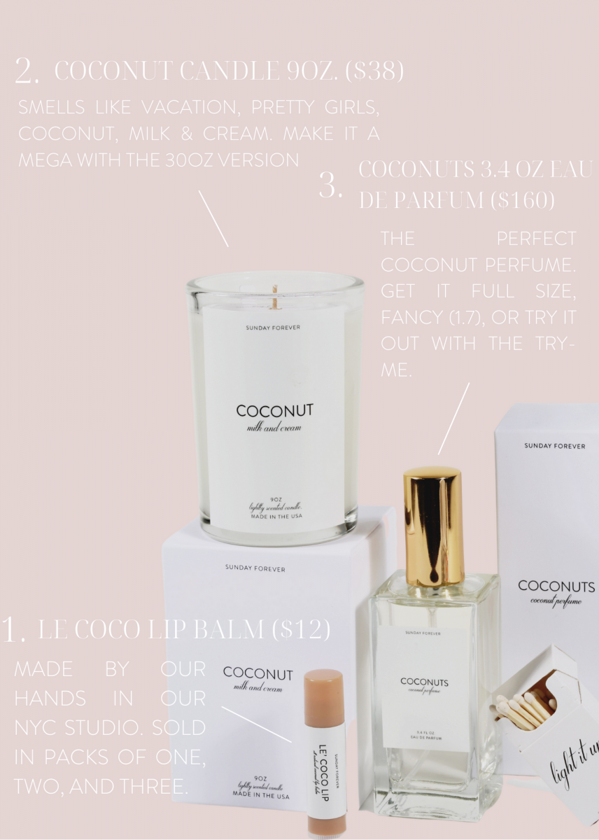 Coconut products all together