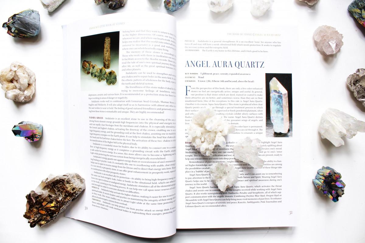 Crystal guide with angel aura quartz