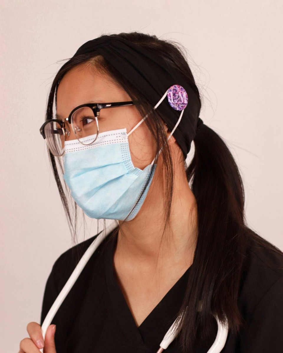 Lilac Snaps - Ear Saver Headbands