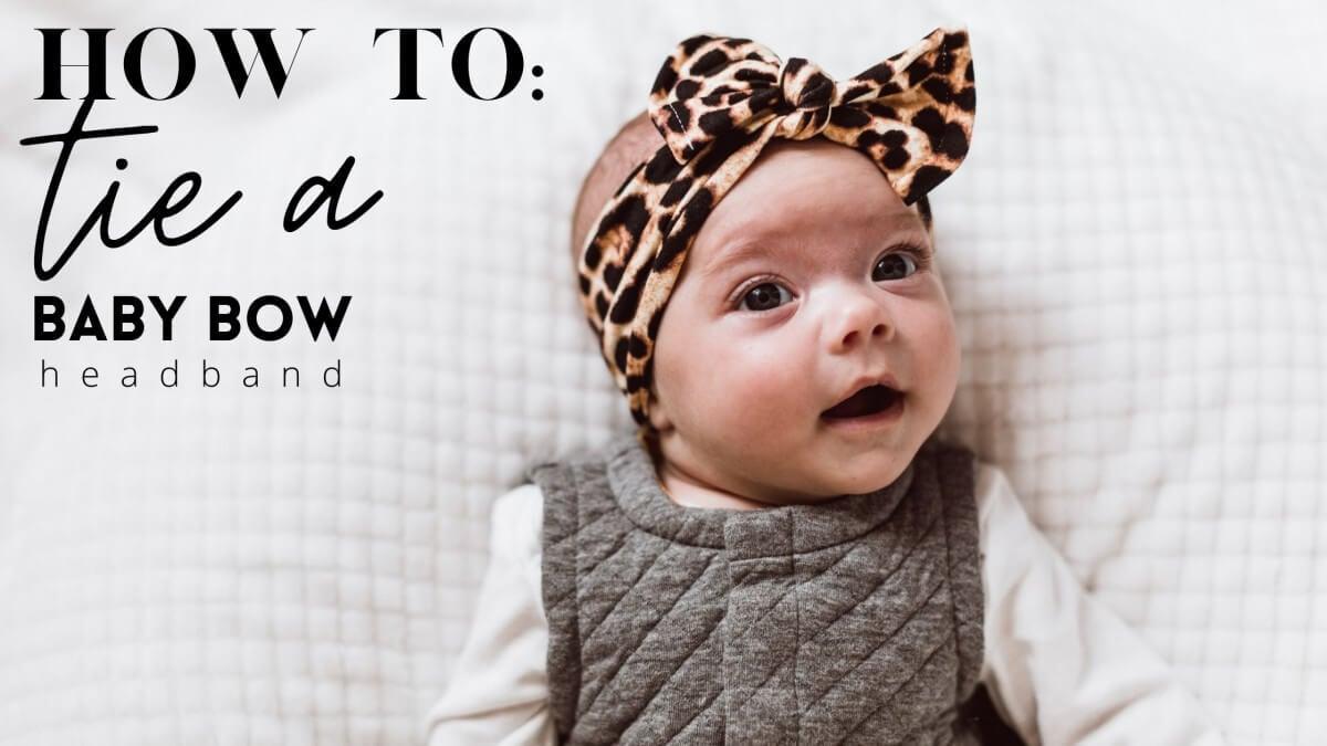 How to Tie a Baby Bow Headband