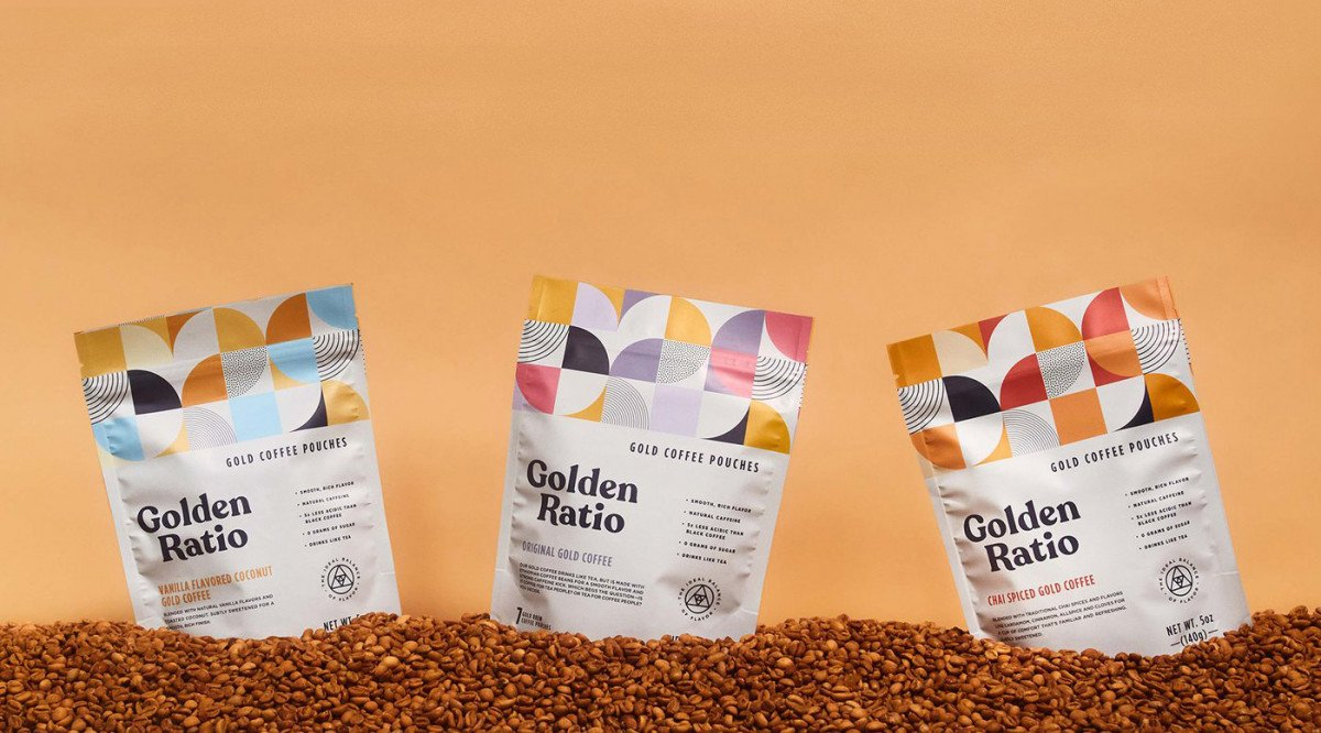 Golden Ration low acid instant coffee pouches
