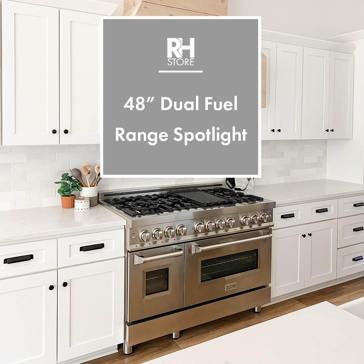 "The Best In Class - ZLINE 48"" Dual Fuel Range Spotlight"