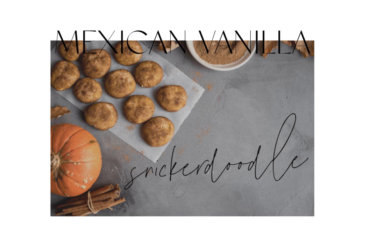 Mexican Vanilla Snickerdoodles