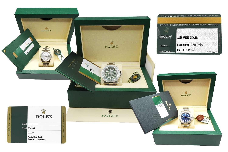 Rolex Watch Information | Factory Warranty Card & Paper