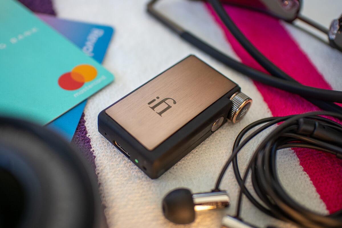 iFi Audio GO Blu portable dac / amp bluetooth with in-ear headphones