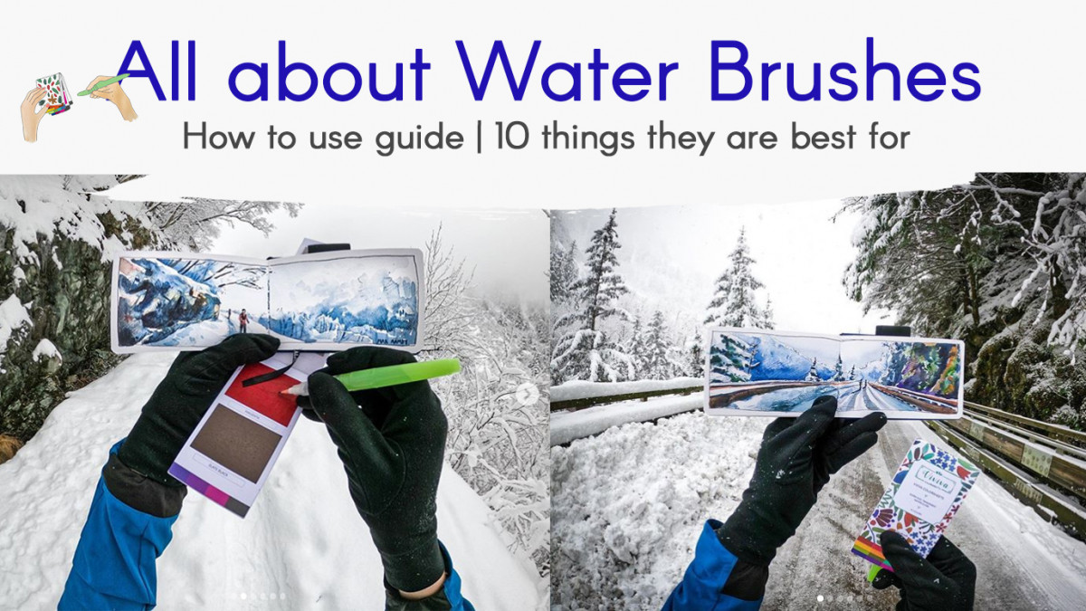Water brushes make 'No mess painting' possible!