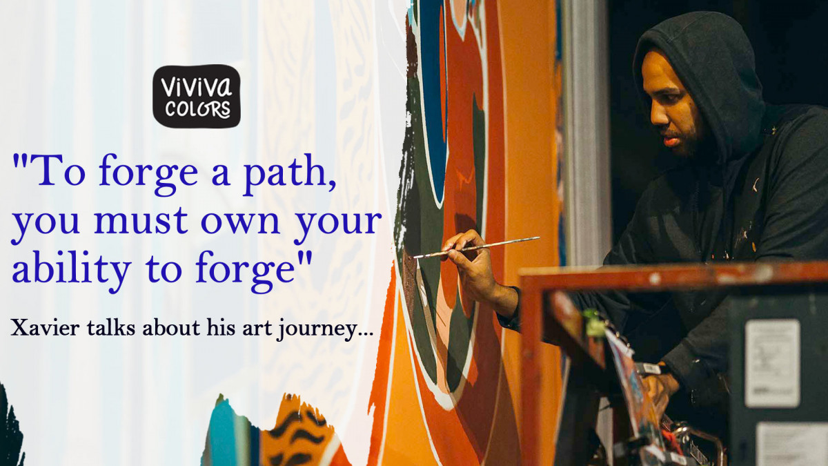 Xavier talks about his art journey