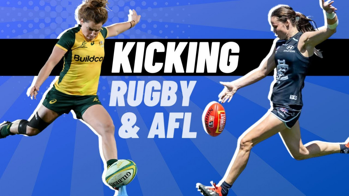 AFL & Rugby Kicking | @rugbybricks.