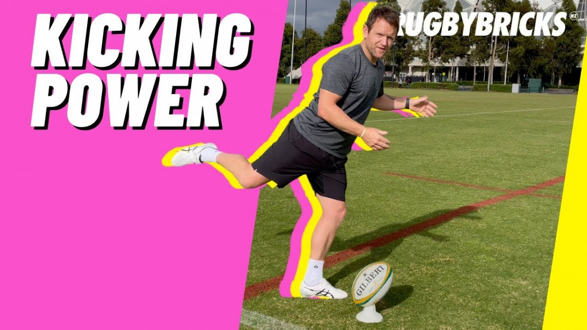 How To Kick The Rugby Ball Further | @rugbybricks | 01 Kicking Power