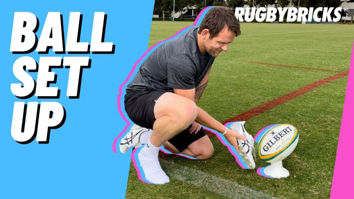 How to Kick a Rugby Ball | @rugbybricks Ball Set Up Tip