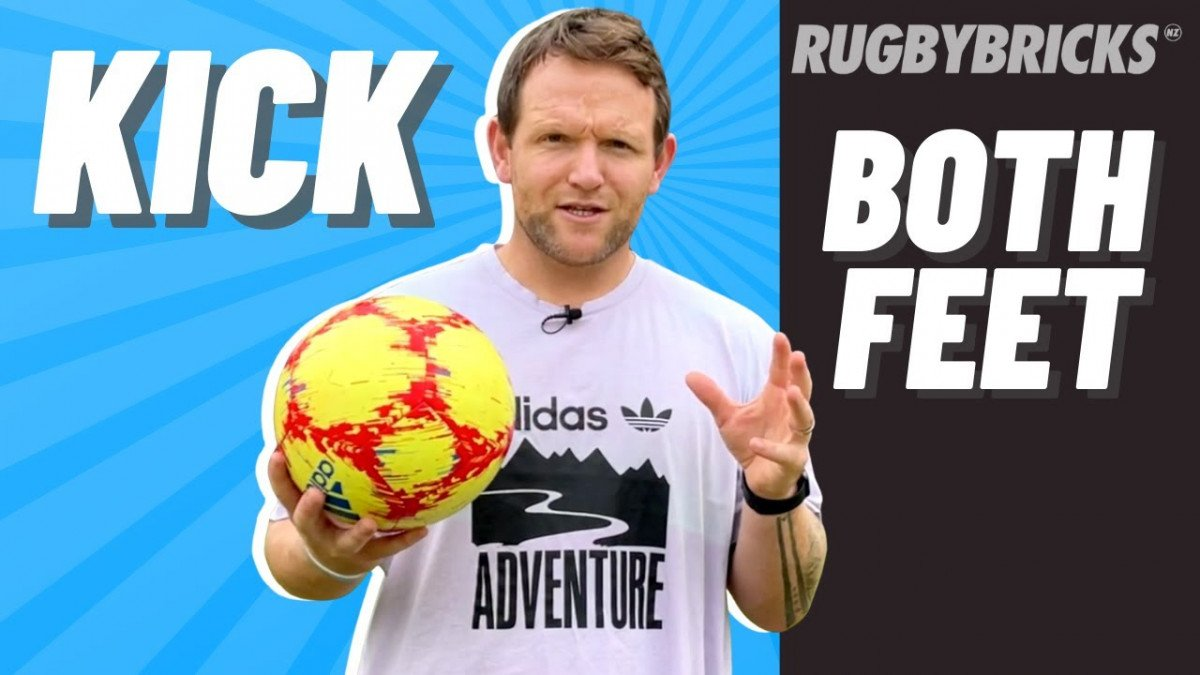 How To Kick off Both Feet | @rugbybricks.