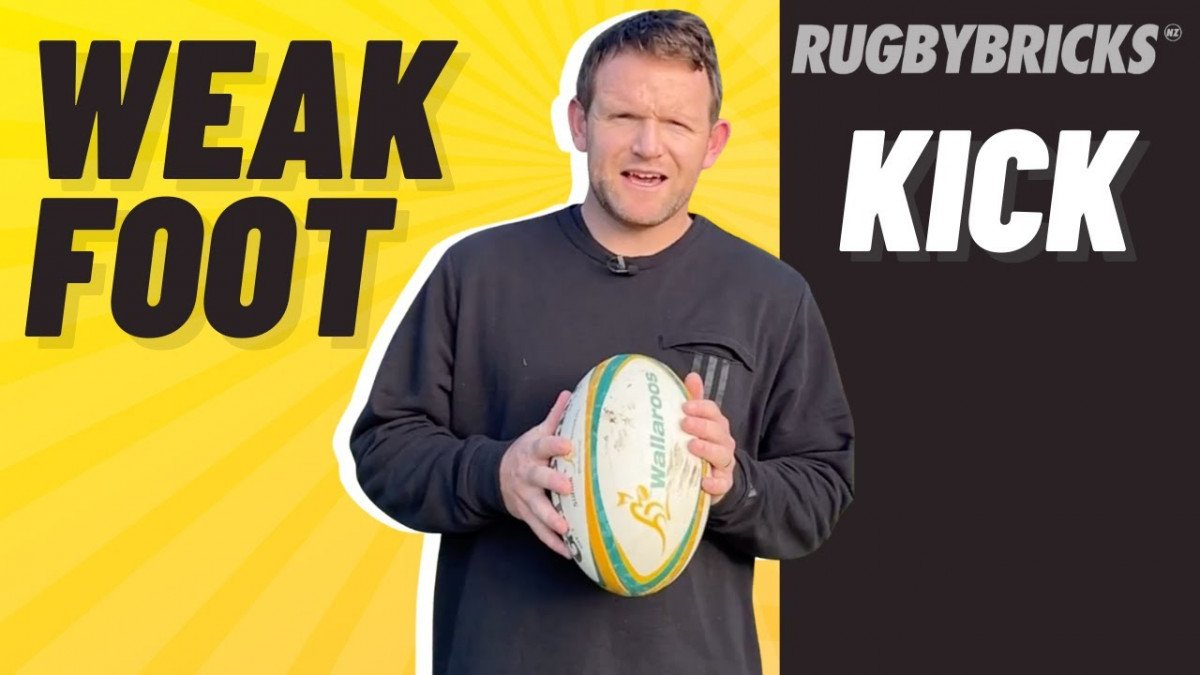 Rugby Non Dominate Foot Kicking | @rugbybricks.