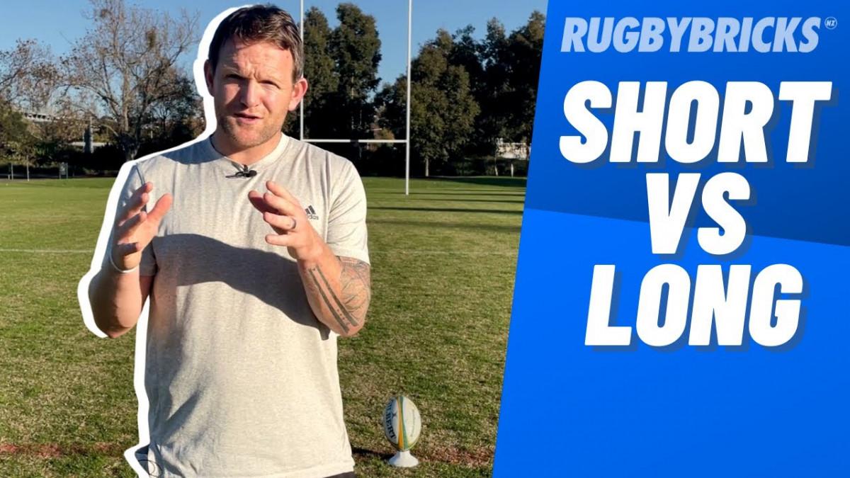 Rugby Goal Kicking | @rugbybricks Short Run Up Training
