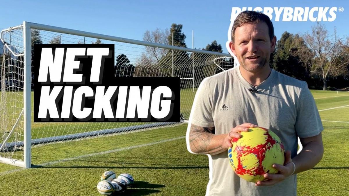 Rugby Net Kicking | @rugbybricks Goal Kicking