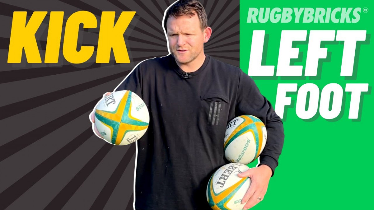 Kick Off Both Feet | @rugbybricks Kicking Technique