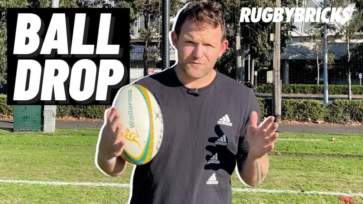 Rugby Ball Drop Drill | @rugbybricks 3 2 1
