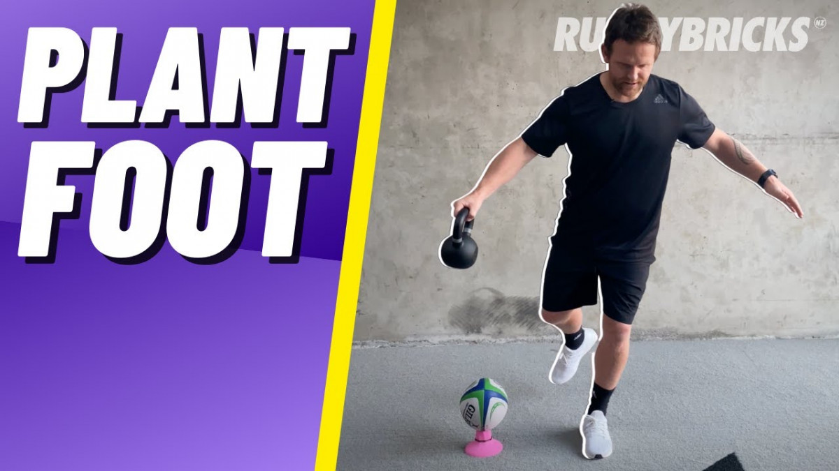 Rugby Goal Kicking | @rugbybricks Plant Foot Balance