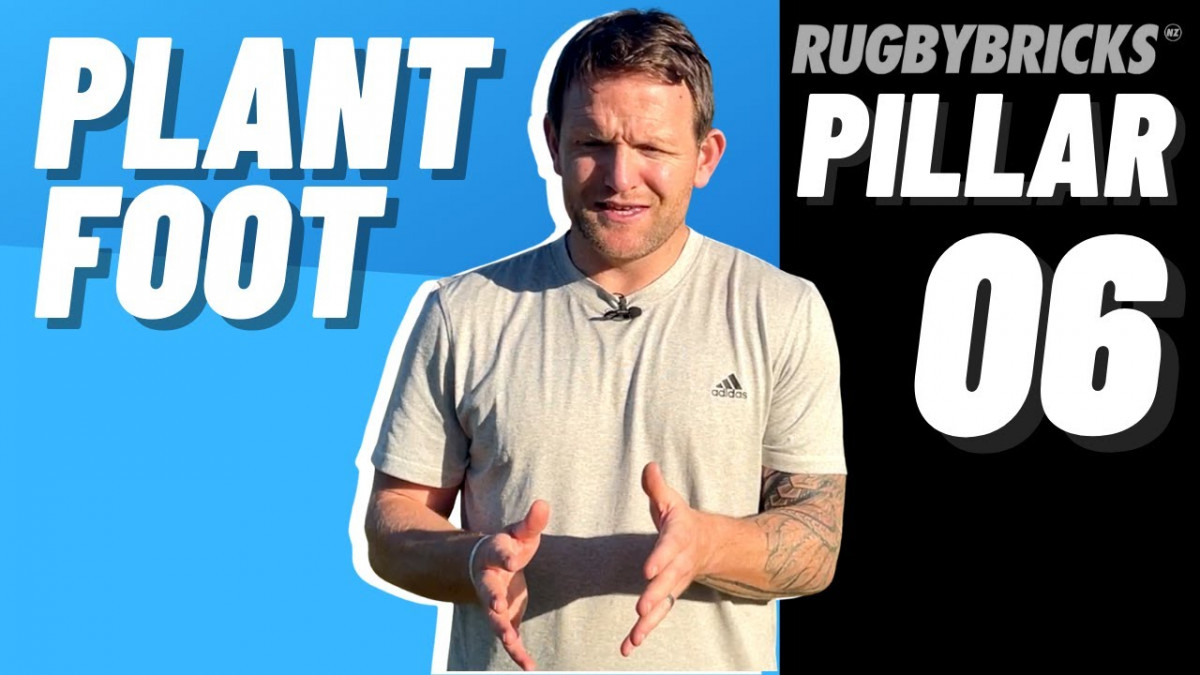 Rugby Kicking Plant Foot | @rugbybricks | 10 Pillars of Goal Kicking 06 Plant Foot