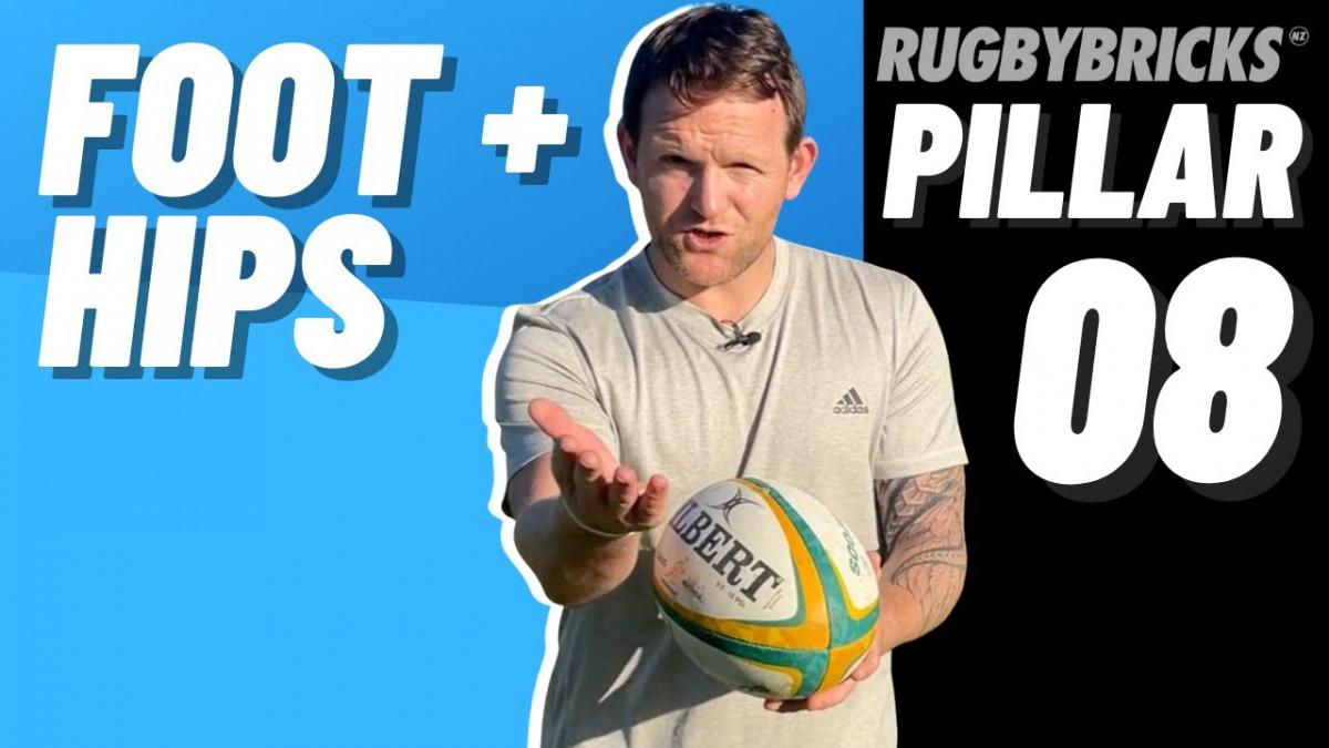 Kicking Hip Power | @rugbybricks | 10 Pillars of Goal Kicking 08 Foot & Hips