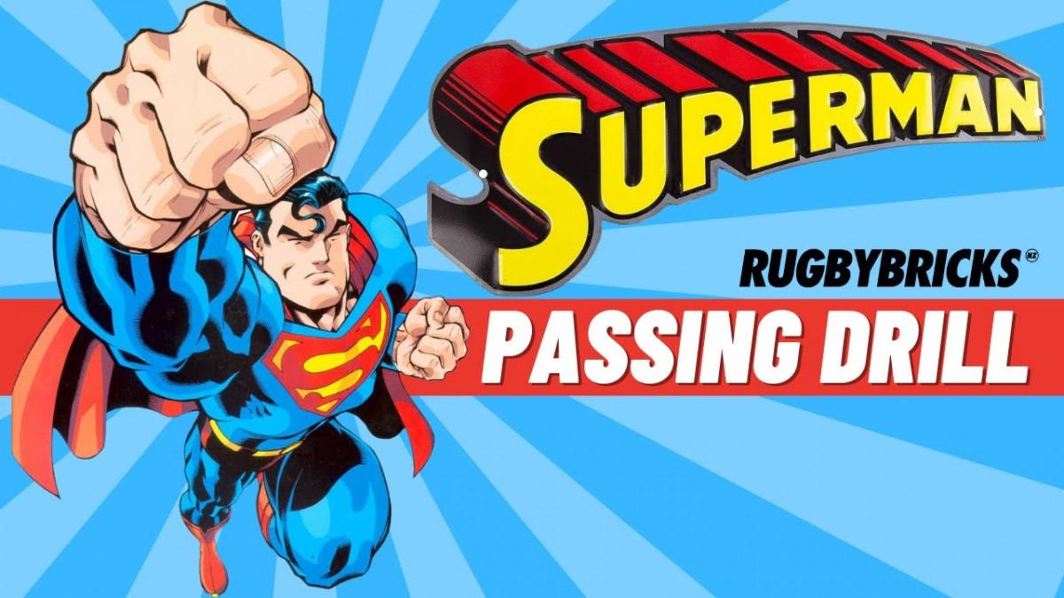 Superman Passing Drill | @rugbybricks.